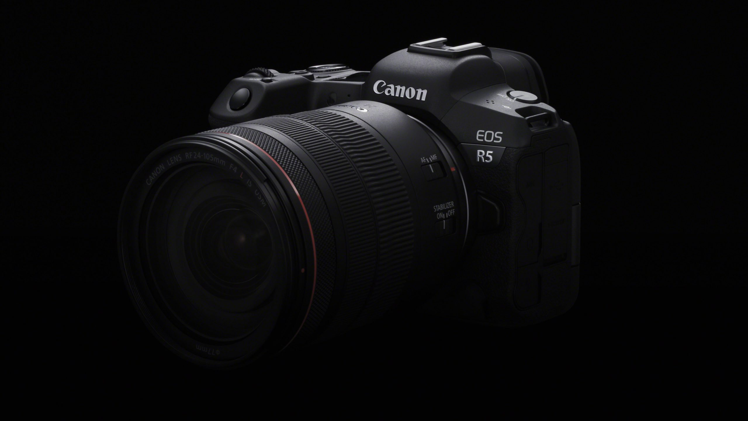Canon EOS R5 with lens