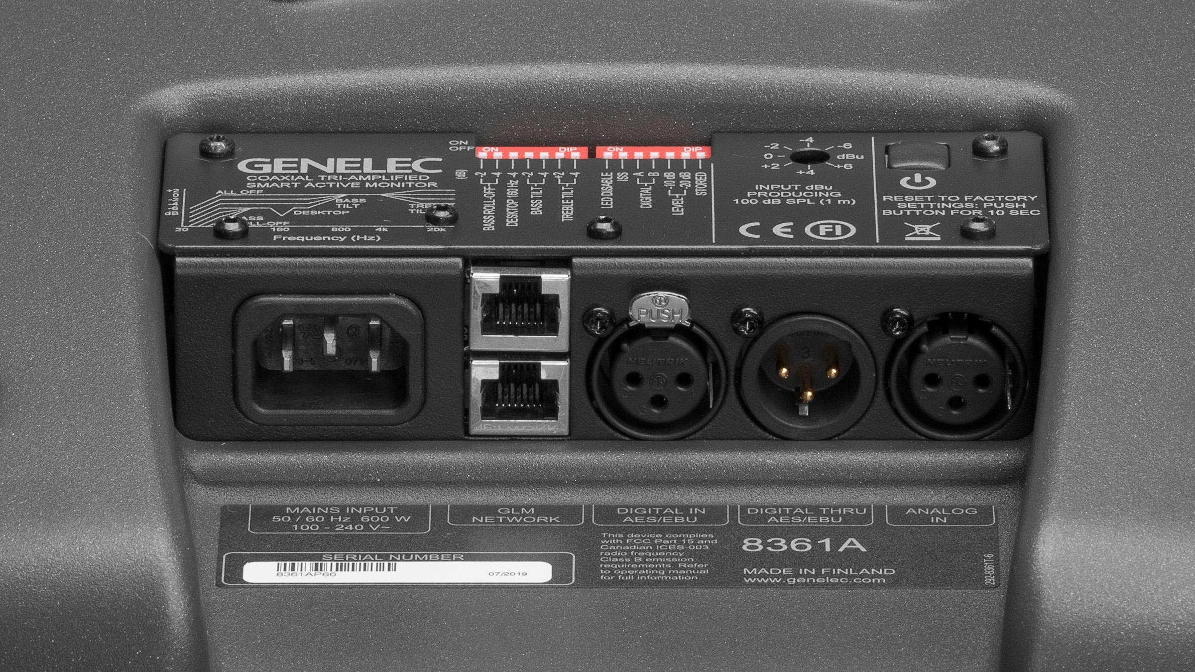 Genelec 8361A connections