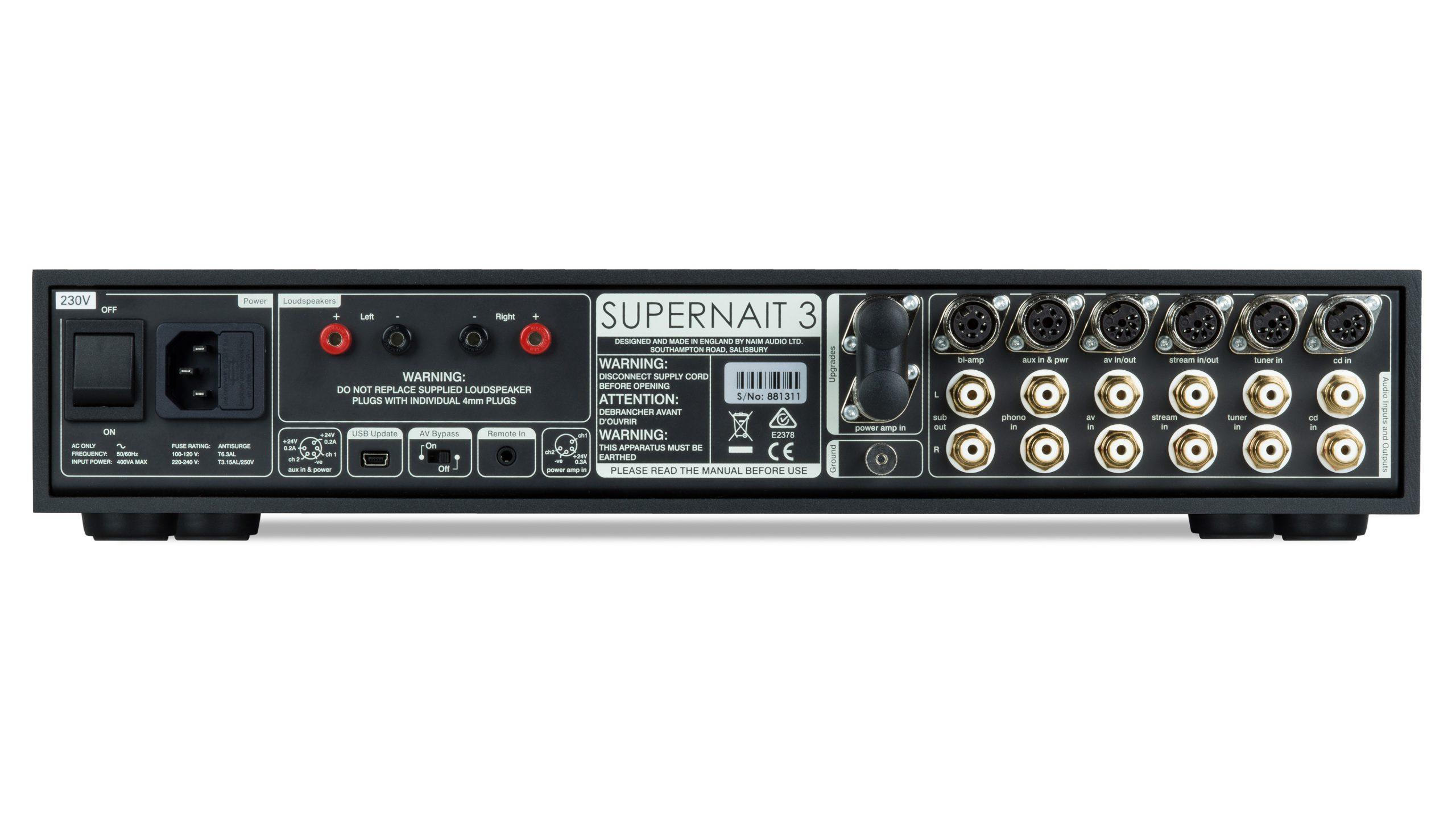 Naim SUPERNAIT 3 rear