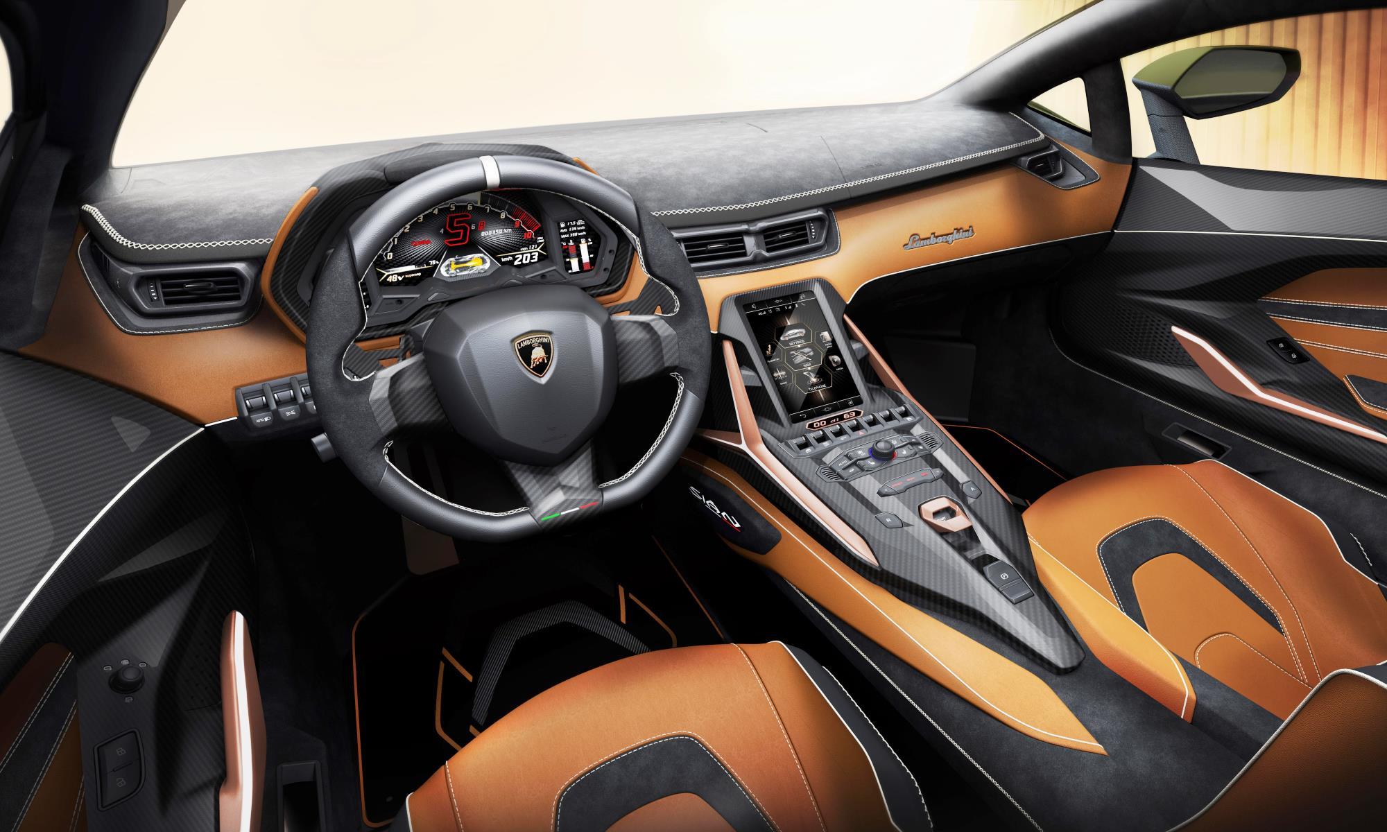 Lamborghini Sían FKP 37 interior