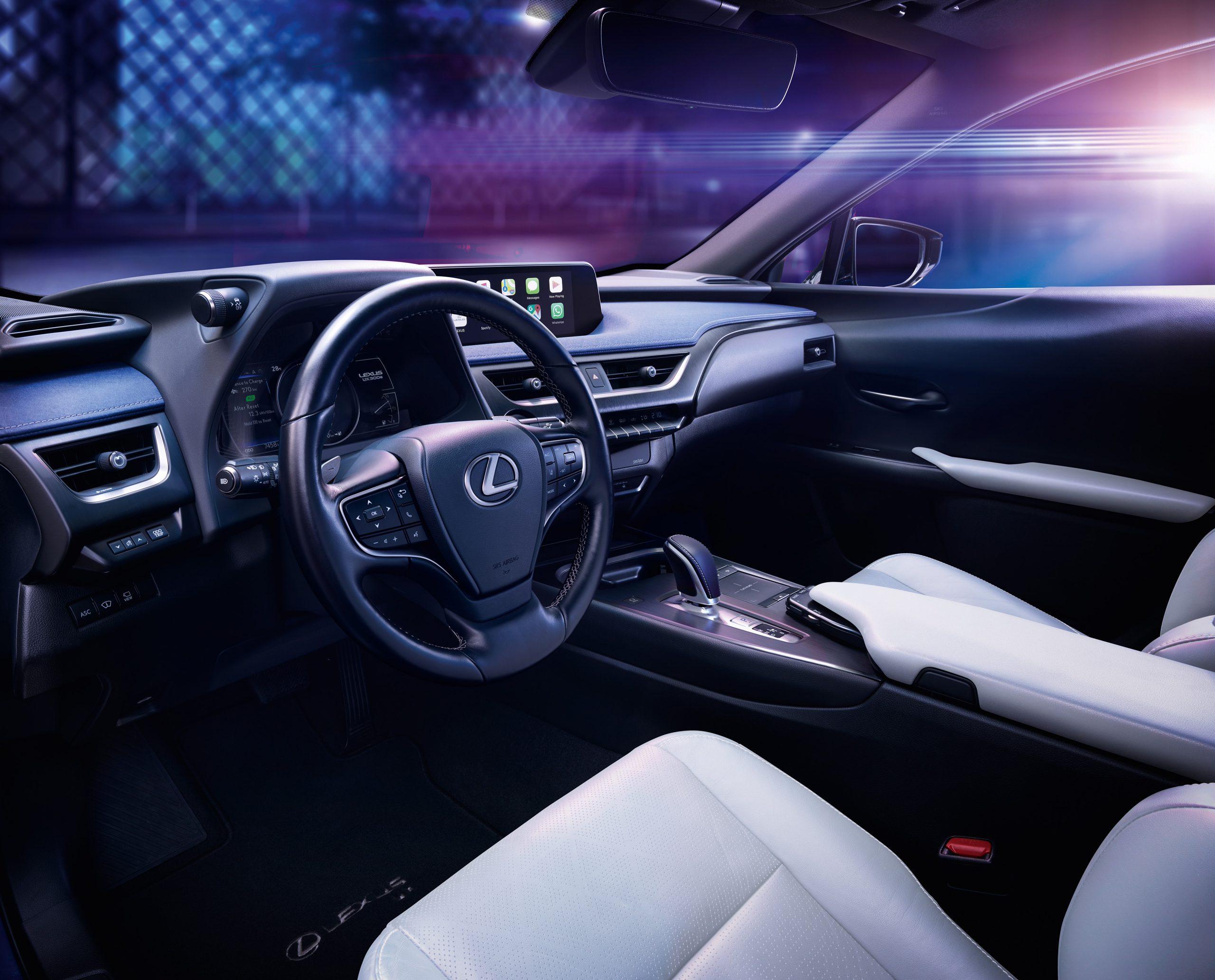 Lexus UX300e interior scaled - Lexus UX 300e med Mark Levinson lydanlegg