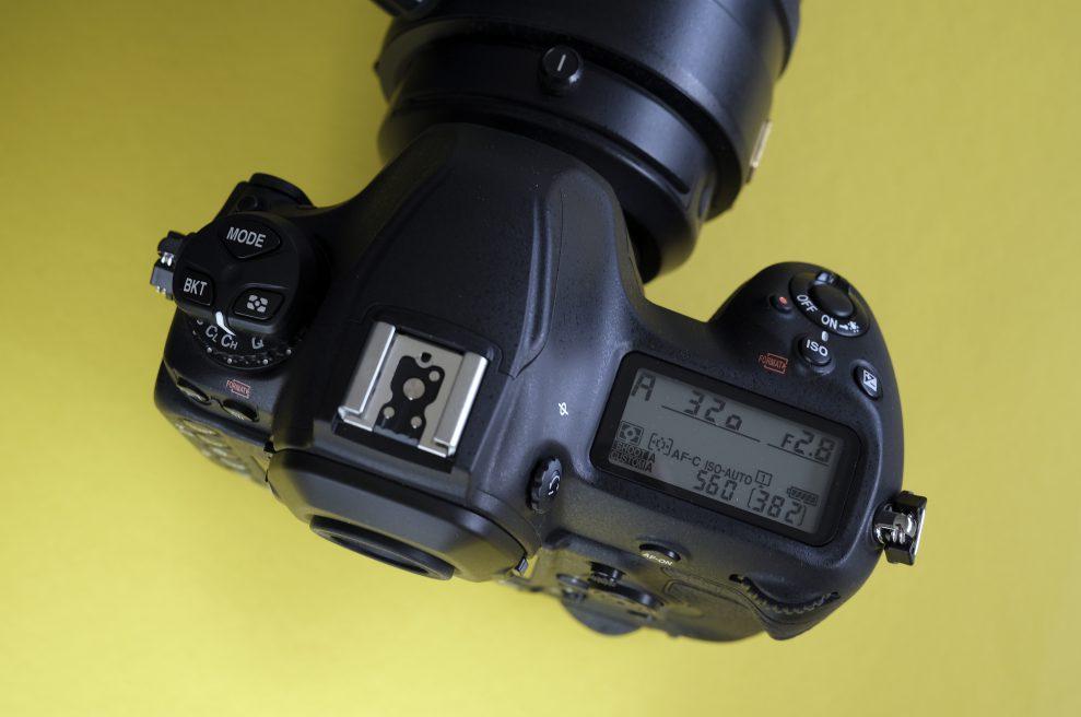 Nikon D6 display