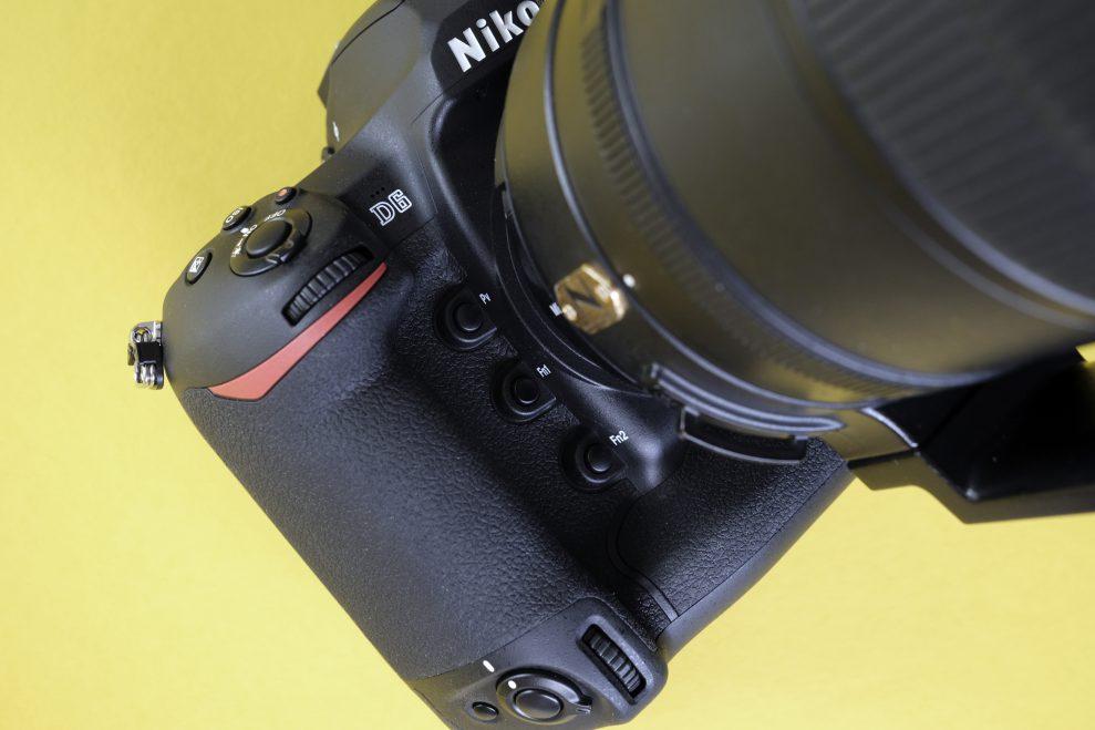 Nikon D6 front F knapper