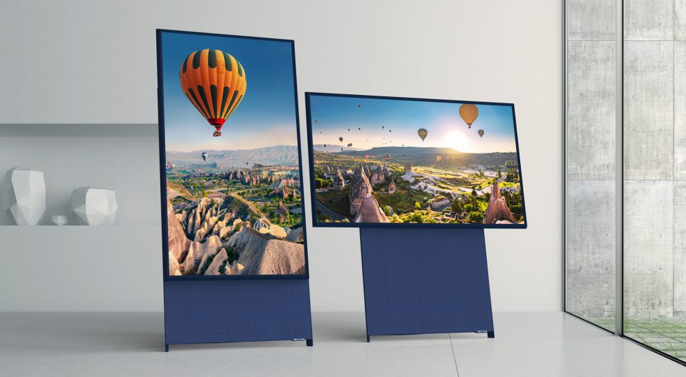 The Sero Screen Rotation 989x544 - Samsung The Sero QE43LS05T