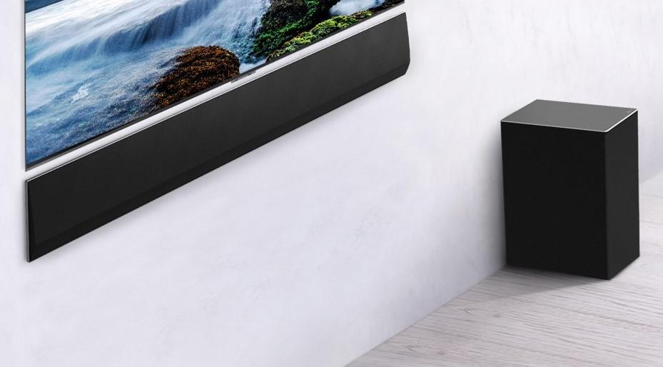 LG GX Soundbar kommer også med trådløs subwoofer: Bakhøyttalere er derimot ekstrautstyr. (Foto: LG)