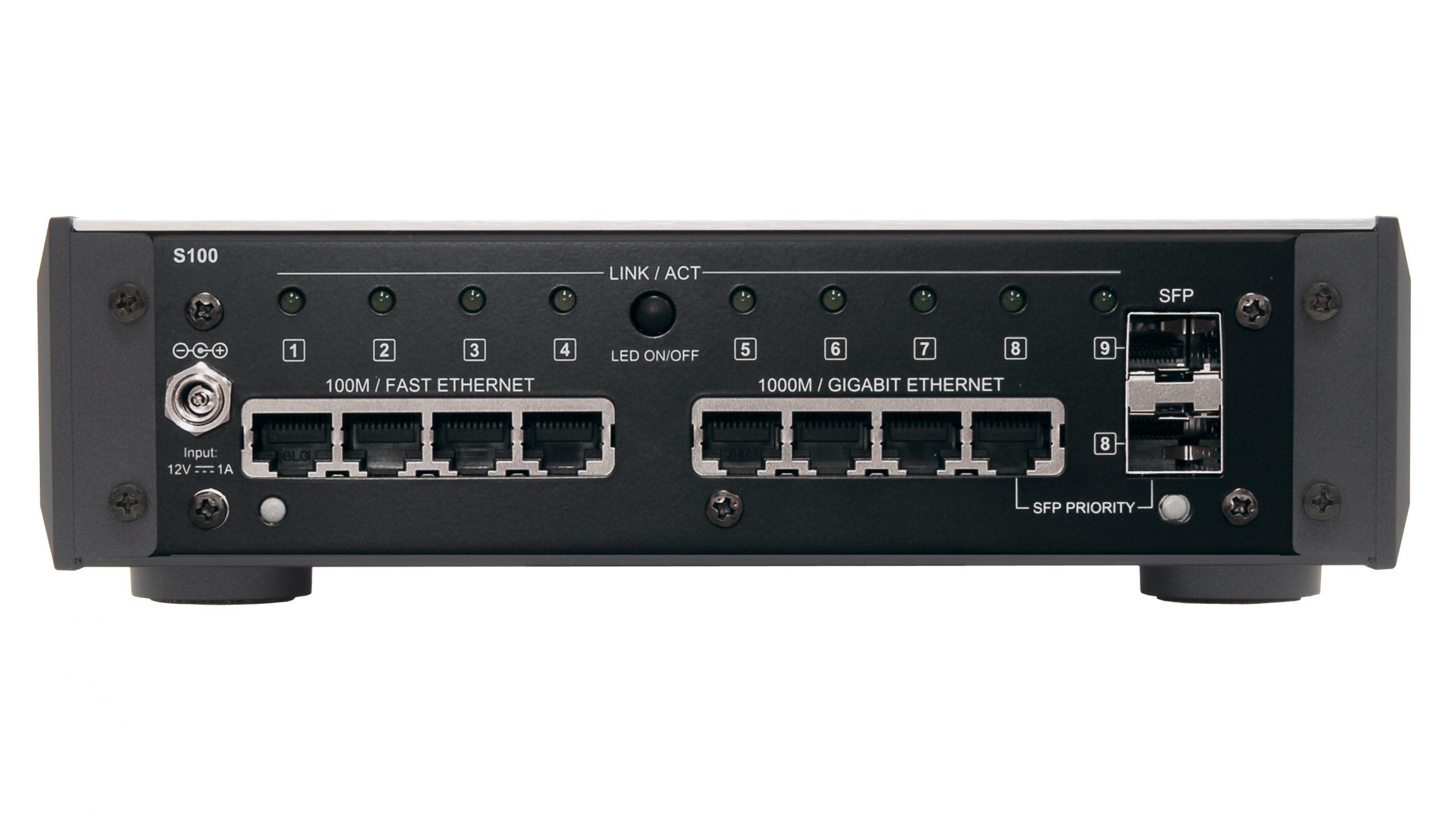 Melco S100 er en ren nettverkssvitsj, som skal gi optimalt utgangspunkt for tilkoblede nettverksspillere. Foto: Melco
