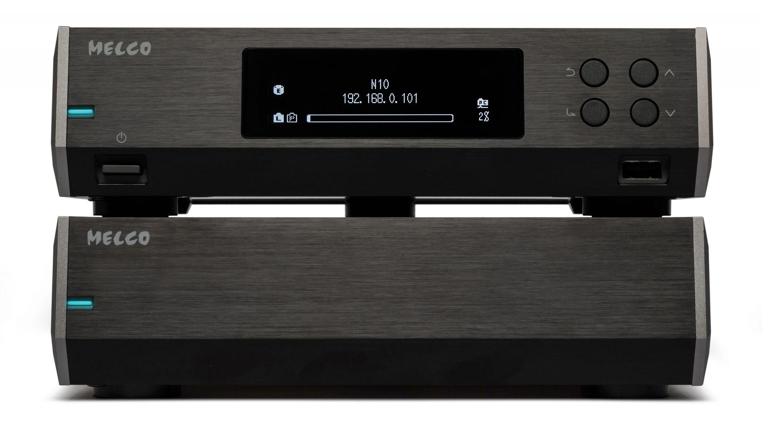Toboksløsningen Melco N10 er mye dyrere enn N100, og har ekstern strømforsyning for enda bedre lyd. Foto: Melco