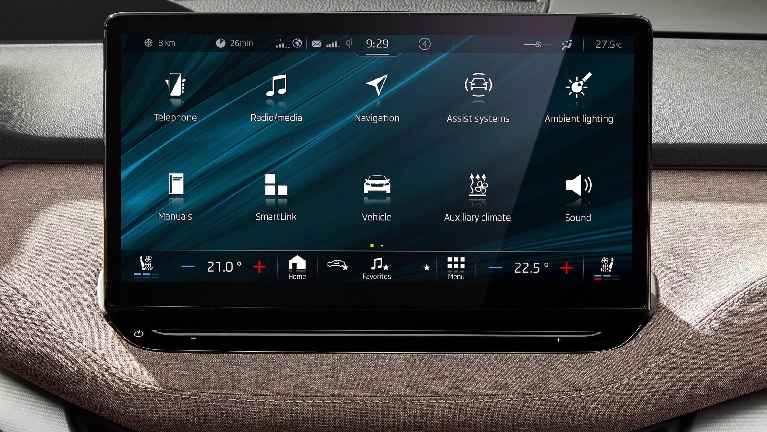 Skoda Enyaq skjerm