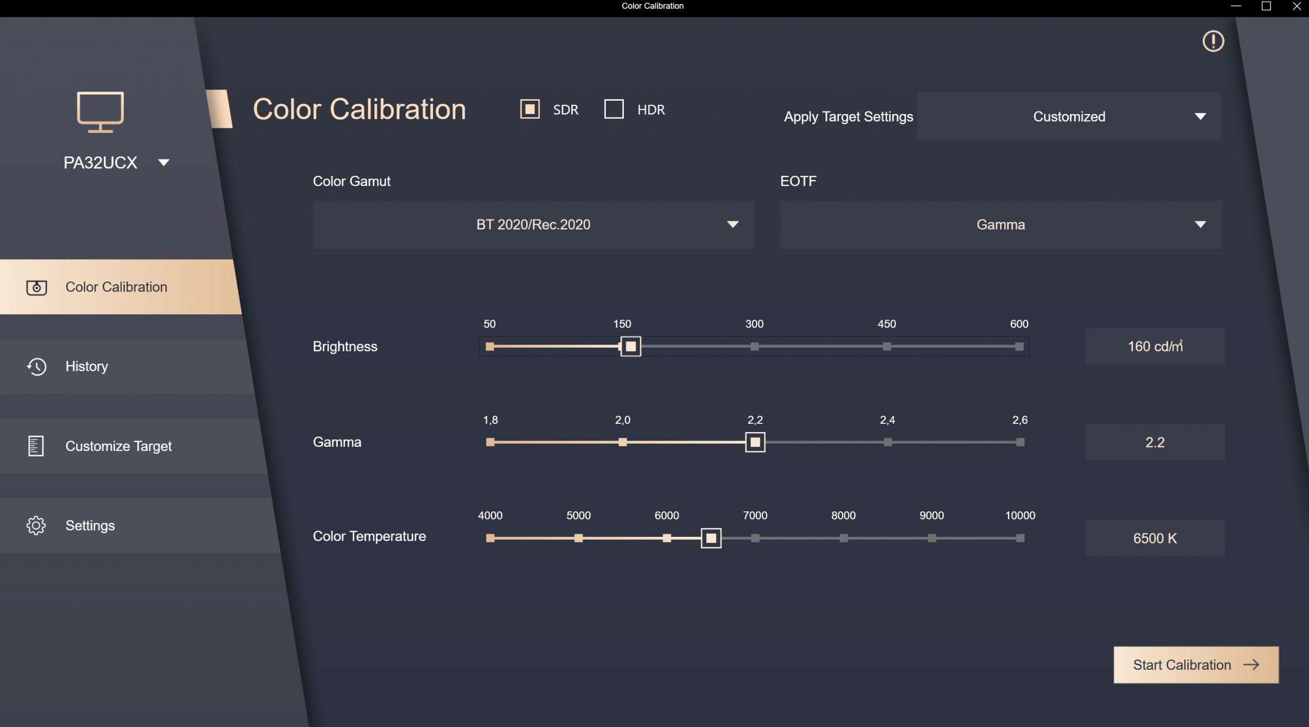 Asus PA32UCX calibration BT2020