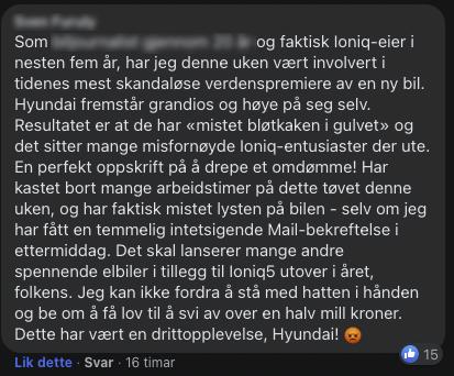 Ioniq 5 comment