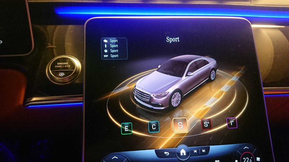 MB S500 Sport mode