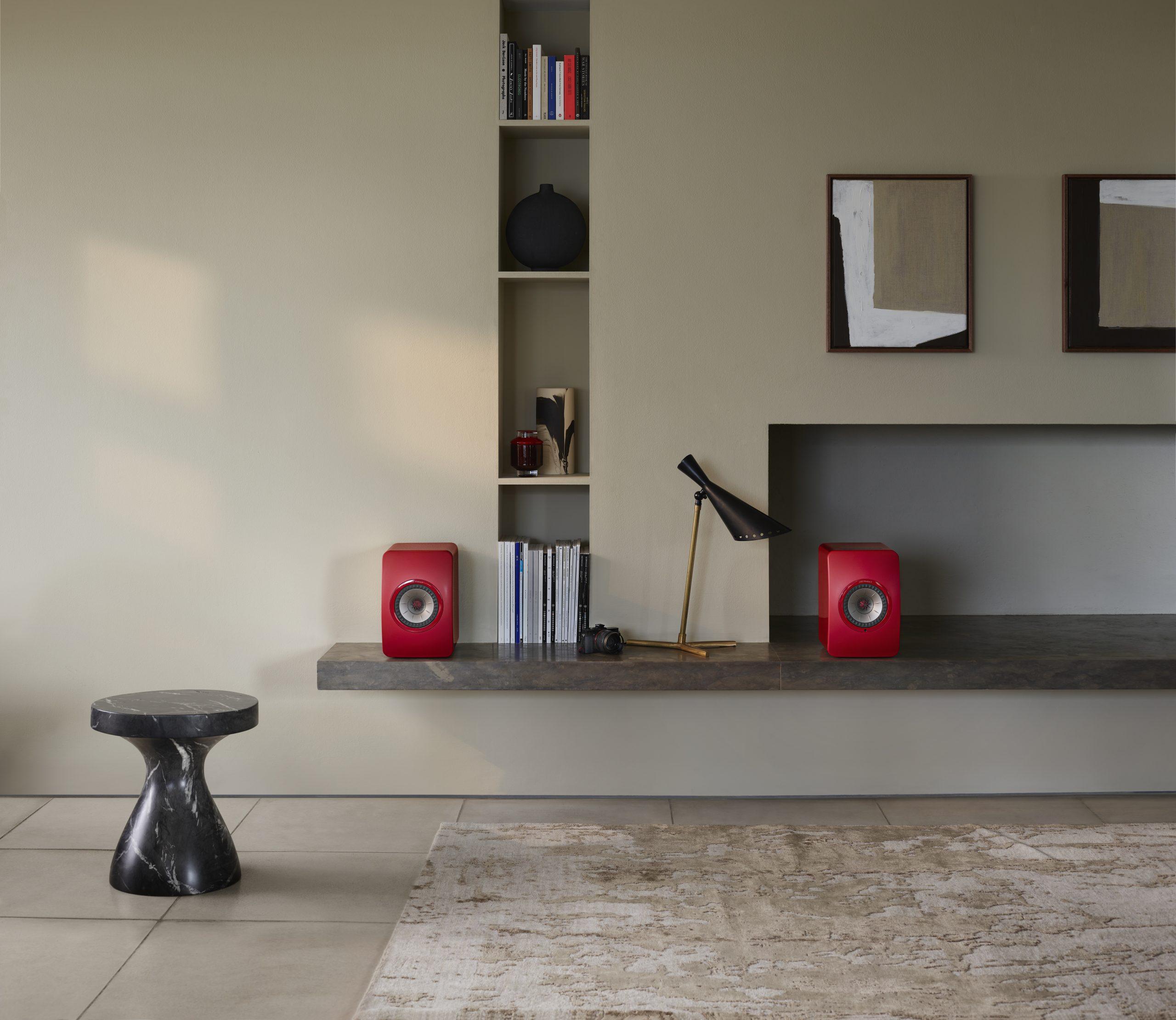 KEF LS50 Wireless II red