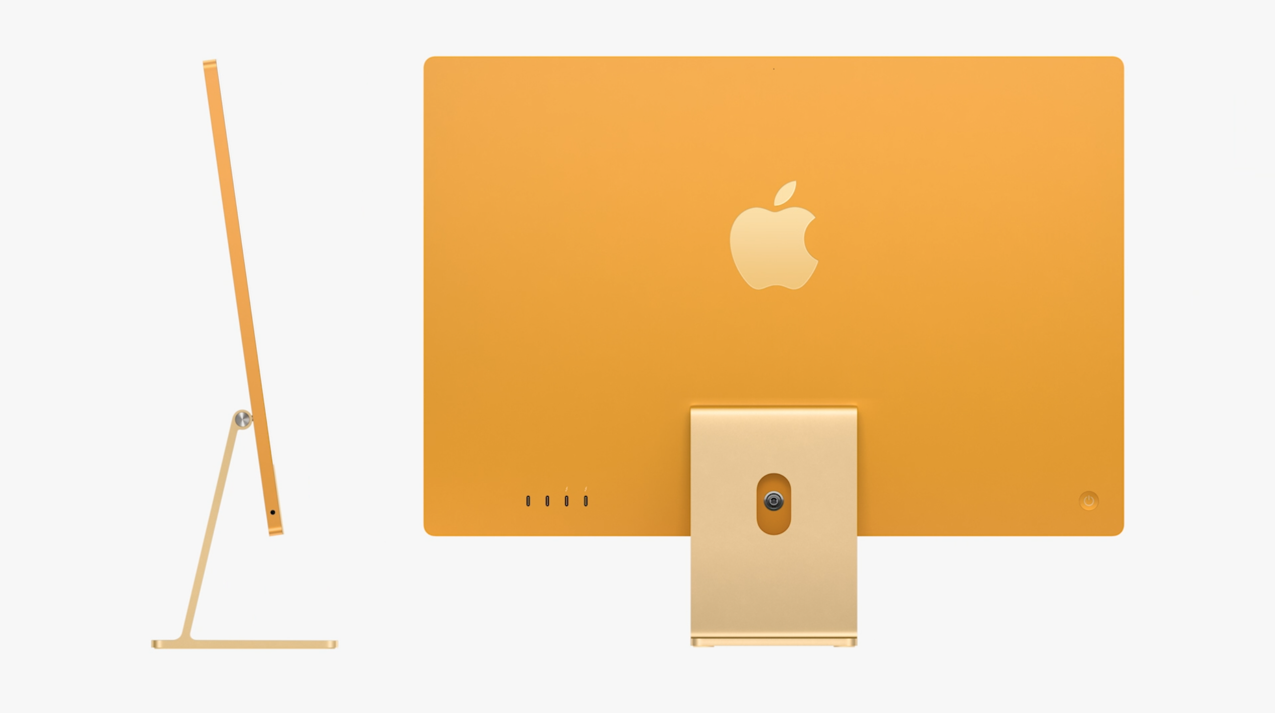 Apple iMac 2021 yellow