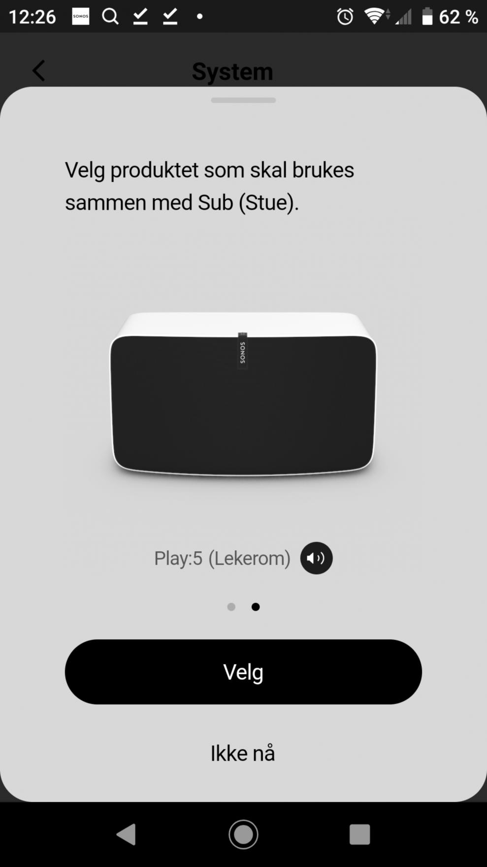 Sonos Sub setup 12
