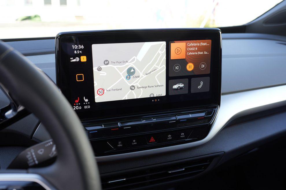VW ID4 hvit skjerm