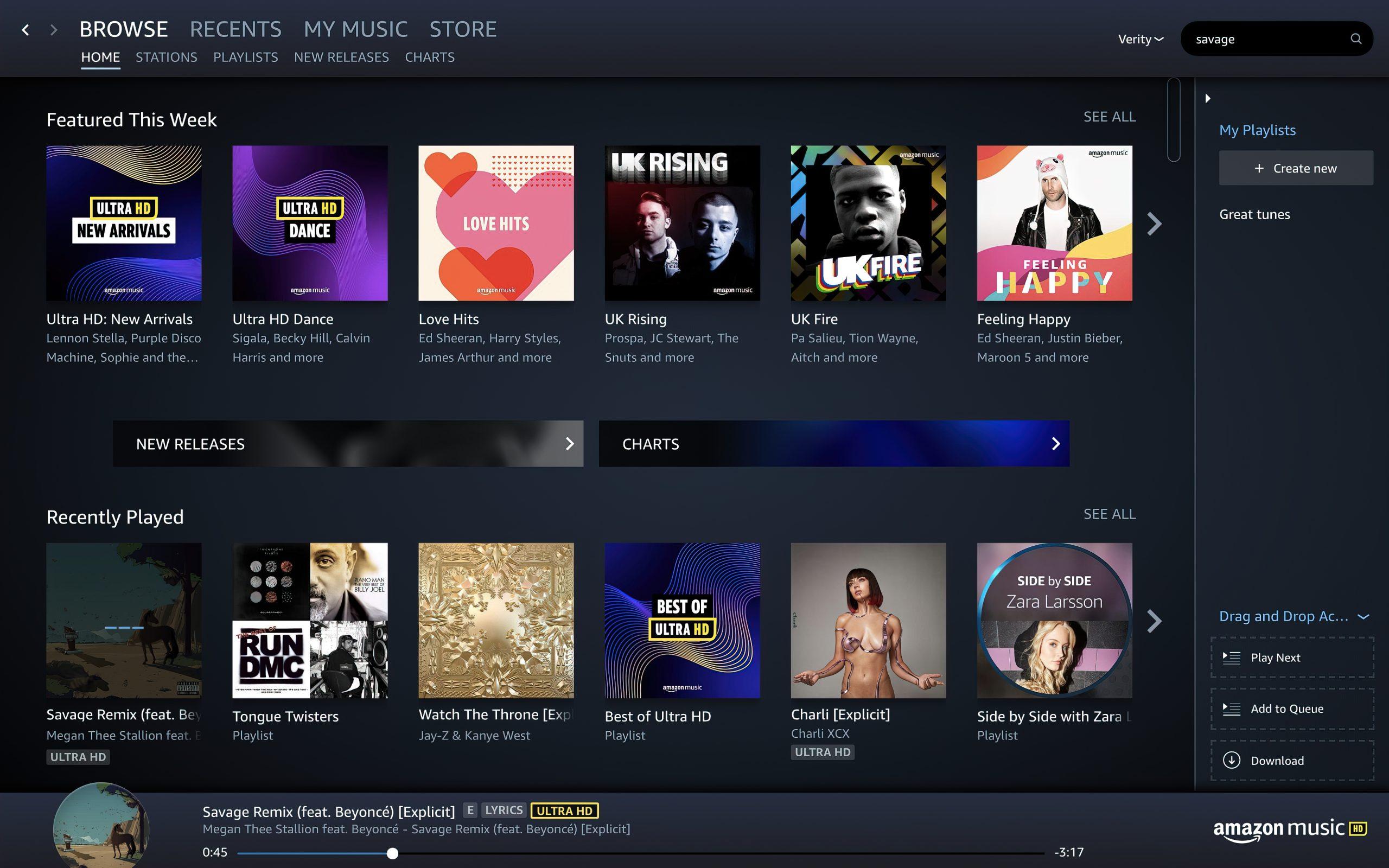 Amazon Music HD hires hi-res strømming streaming høyoppløst