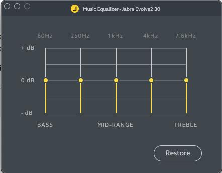 Jabra Evolve 30 app EQ