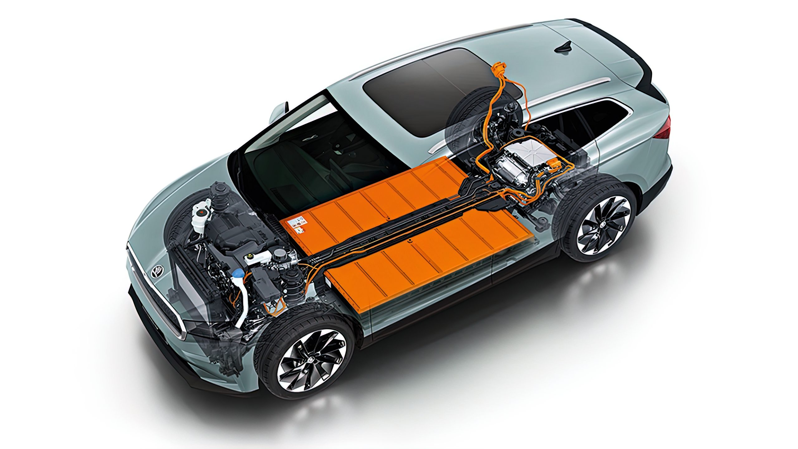 Skoda Enyaq seethrough chassis