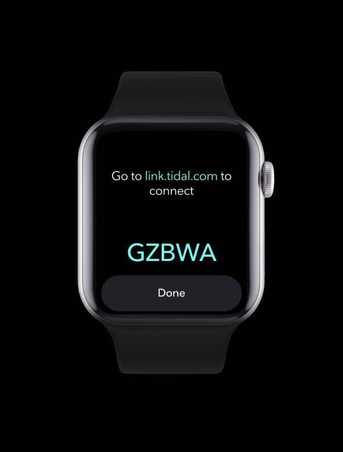 Link Tidal Apple Watch