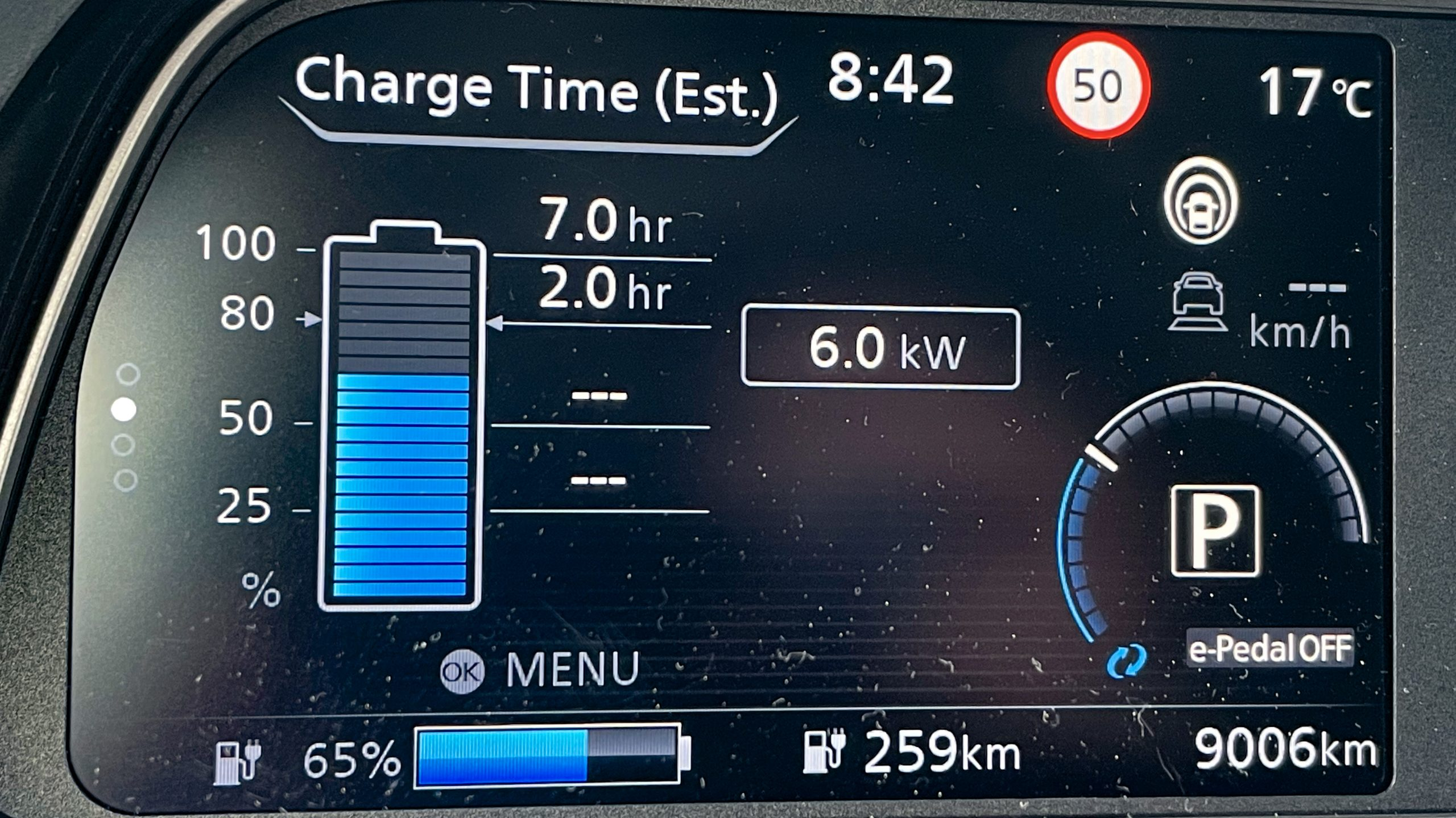 Nissan Leaf 2021 instrument panel(2)