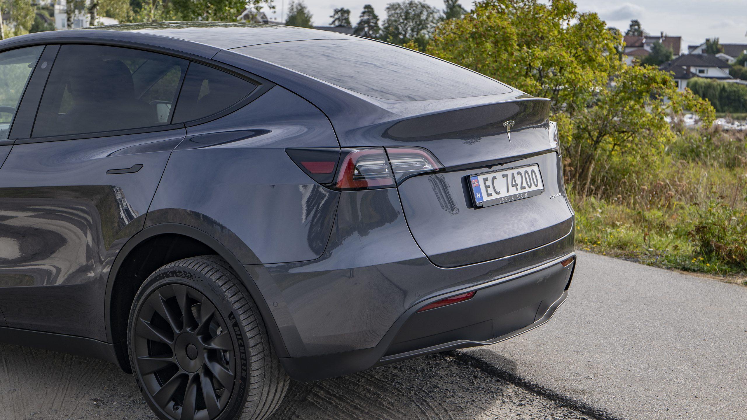 Tesla Model Y rear side