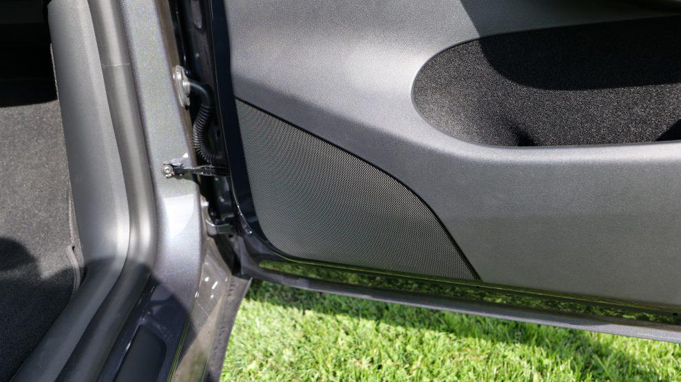 Tesla Model Y right speaker door