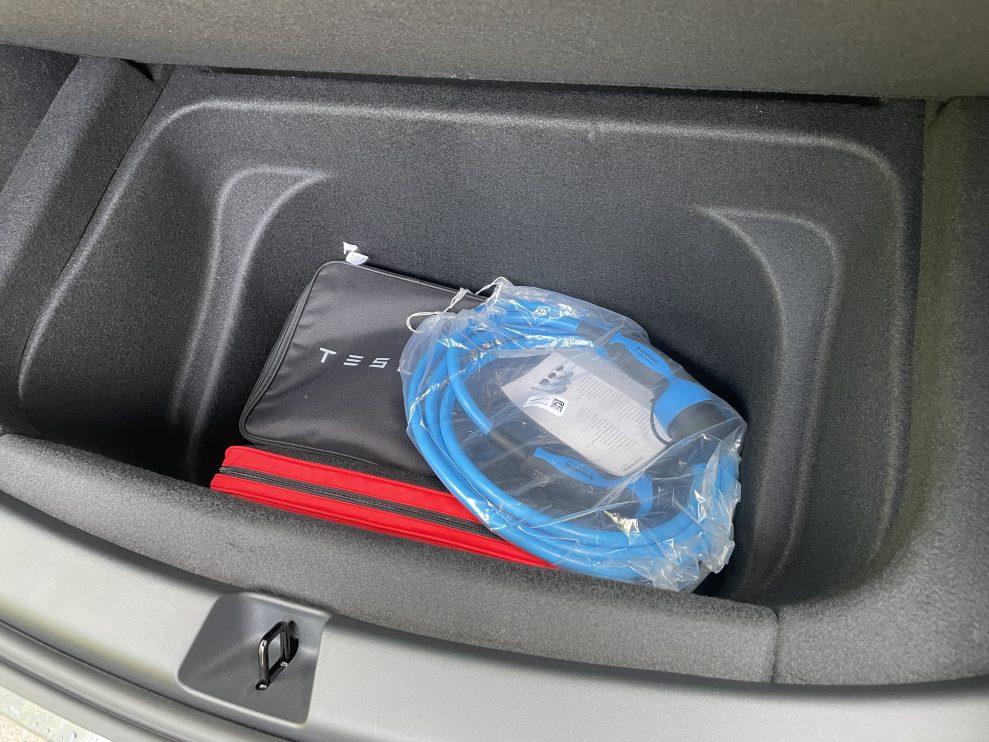 Tesla Model Y trunk sub compartment